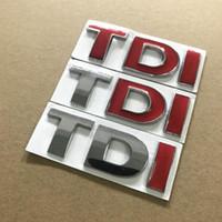 emblème tdi achat en gros de-TDI GTI 3D métal Badge Emblème Decal Auto Autocollant Car styling pour vw POLO Golf 7 Tiguan JETTA PASSAT b5 b6 MK4 MK5 MK6 MK7