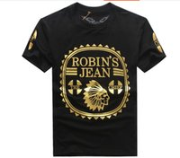 Wholesale Jeans Long Sleeve Tshirt - Wholesale 2016 New Robin T-shirt Mens robin jeans shirts Man Tshirt Robins men bottoming robins shirt t shirt tops puls size 3XL
