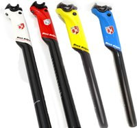 Wholesale Seatpost White Road - Black Knight Road Bicycle Seat Post 3K Carbon Fiber Bike Aero Seatpost 27.2 30.8 31.6mm red white blue yellow Cycling parts