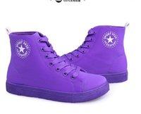 Wholesale Candy Canvas Shoes Women - women shoes2016 new candy-colored high-top canvas shoes women flat shoes student shoes casual shoes woman shoes