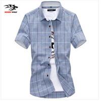 Wholesale Plaid Shirt Trend - Wholesale-2016 new men's fashion trend of urban tide Korean version of casual youth multicolor plaid shirt plus size code M-5XL