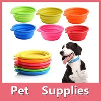 Wholesale Hot Dog Water - Collapsible Silicone Cat Dog Pet Feeding Bowl Water Dish Feeder Portable Hot Sell With 6 Colors