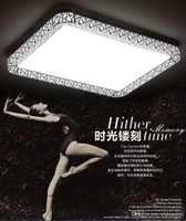 Wholesale Dimmable 72w - creative led Ceiling lights dimmable indoor lighting 35 48 72W led rectangle modern Acrylic ceiling lights for living room lamps for home