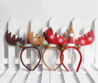 Natal Headband Crianças Antlers Head Hoop com pequenos sinos Cute <b>Elk Christmas Decorations</b> Cartoon Animal Modeling