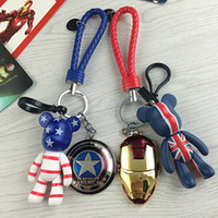 Alloy Super Hero The Avengers Marvel Marvel Iron Man Mask Superman Cartoon Violência Urso Metal Chaveiro Chaveiros