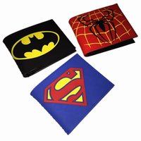 batman brieftaschen groihandel-Kostenloser Versand Authentic Marvel Wunder The Avengers Batman Spider-Man Iron Man Captain America Superman Brieftasche