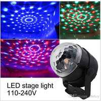 Wholesale Multi Effects Light - Mini RGB LED Crystal Magic Ball Stage Effect Lighting Lamp Bulb Party Disco Club DJ Light Show multi color led stage lights