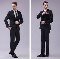Wholesale Tuxedos Colors Groomsmen - New Arrival Groomsmen Center Vent Slim Fit Groom Tuxedos Notch Lapel Men's Suit 12 Colors Best Man Wedding Dinner Suits (Jacket+Pants) J867