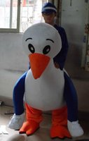 Wholesale White Duck Adult Costume - SX0725 100% positive feedback a man ride the white duck mascot costume for adult to wear