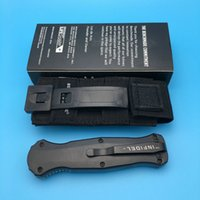 Wholesale Action Brand - Brand New Benchmade 3310 3310BK 3300 Infidel Single Edge D2 Blade Double 58-61HRC Smooth Action Tactical pocket knife knives
