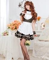 Wholesale Theme Clothing Dresses - Wholesale-Hot Sale Summer Style Sexy Backless Maid Cosplay Halloween Costume Cute Lolita Anime Take Theme Party Clothes Performance Dress