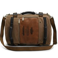 Wholesale Canvas Backpack Large - Luxury Brand Shoulder Bags For Men Multipurpose Canvas Large Capacity Retro Backpack Casual Travel Bag Fashion Bags