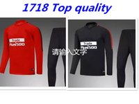 Wholesale Train Suits - TOP QUALITY 17 18 Atletico Madrid jacket Training suit kits soccer Jersey GRIEZMANN F TORRES KOKE SAUL CARRASCO Madrid football shirts