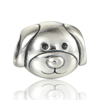Wholesale Pet Stars - Animal charms dog pet S925 sterling silver fits for pandora style charms bracelets free shipping LW552H9