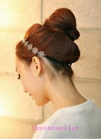 Wholesale alloy chain hair band for sale - Womens Fashion Metal Chain Jewelry Hollow Rose Flower Elastic Hair Band Headband Jewelry Drop Shipping Headwear