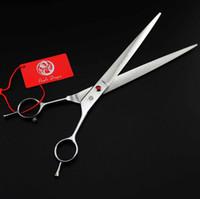 ciseaux de cheveux professionnels livraison gratuite achat en gros de-Top qualité avec étui en cuir violet dragon 9.0