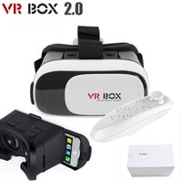 Wholesale Android Glasses - 2016 Latest 3D Virtual Reality VR Box 2.0 Glasses Phone Headset Helmet + Remote