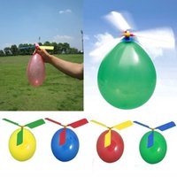 Wholesale Balloon Filler - Festival toy Balloon Aircraft Helicopter For children Filler Flying Whistle balloons Toy baby Gift Colorful Party Decoration Hand work toys
