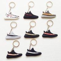 Wholesale Mini Sneaker Chain - Mini Silicone Shoes Keychain Bag Charm Woman Men Kids Key Ring Key Holder Gift Sneaker Key Chain