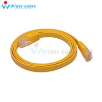câble réseau utp cat5e achat en gros de-5pcs / lot 1M CAT5e RJ45 Câble plat UTP 10/100 / 1000Mbps Ethernet Câble réseau pour PC Routeur Drop Shipping