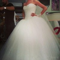 Wholesale Shine Wedding Gown - Romantic shining sequins wedding dresses ball gown sweetheart sexy backless sweep train formal bridal gowns plus size vestidos de noiva 2014