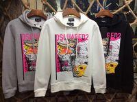 Wholesale Order Zipper Jacket - 2017 New Arrived Men's Jacket Length Sleeve Hoodies Sweatshirts DSQ2 Print Leaves Hoody Hooded Mens Zipper Pullover D2 Outwear Mixed Order!