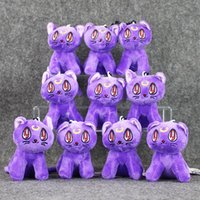 Wholesale Sailor Teddy Bears - 10pcs lot 10cm Sailor Moon Lunar Artemis Diana Cat Plush Doll Toy Soft Stuffed Plush Toys Gift Decorations