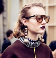 Wholesale silver long earings - Big Long Earrings Pearl Earrings from india bohemian Silver Gold Earrings For Women Earings Fashion Jewelry 2017 Dropshipping