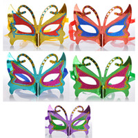 Wholesale Paper Masks For Sale - Hottest Sale Halloween Crazy Party Masks Masquerade Decorations Masks School Masquerade Butterfly Style DHL 7-10 Days