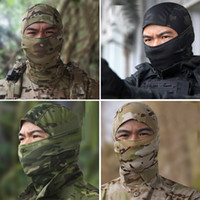 Wholesale army full face mask online - Camouflage Army Cycling Cap Hats Full Face Mask Headgear JULY27