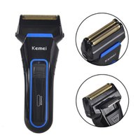 Wholesale Rechargeable Wet Dry Shaver - Kemei KM-2016 Men's Cordless Electric Shaver Razor Trimmer Rechargeable Reciprocating Double Groomer Wet and Dry Use EU Plug 0604063