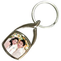 Wholesale Metal Blanks Pendants - Blank Sublimation nail metal key chain bag pendants custom print photo OPP packing k13