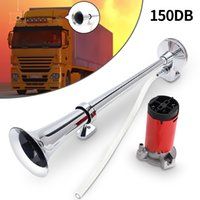 Wholesale Loud Horns - Universal Single Trumpet Air Horn 150dB 12V Chrome Super Loud For Truck Lorry Boat Train AUP_50F
