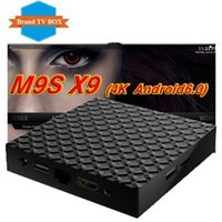 Venta de la fábrica M9S X9 Smart Android 6.0 TV Box Rockchip RK3229 Quad Core Google Set Top Box Caja completamente cargada KD17.3 OTT
