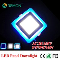 Wholesale Led Panle - Wholesale-Hot Sale 3 Model Panle Downligth Square LED Ceiling Lights 6w 9w 16w LED Recessed Spot Lamps Kitchen Bathroom Lighting Bulb