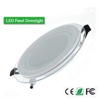 Wholesale Dimmable Smd Mount Led - LED Panel Light Dimmable 6W 12W 18W SMD 5630 LED Celing Recessed Downlight Round Glass Cover Panel Downlight AC85-265V