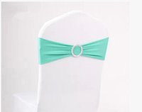 Wholesale Turquoise Chair Bands - very popular turquoise chair cover sash bands 50 pieces with free shipping