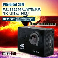 Wholesale Control Lens - Action camera H9R Ultra HD 4K WiFi 1080P 60fps 2.0 LCD 170D lens Helmet Cam underwater waterproof camera with Remote control camera