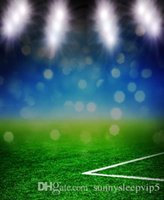 Fantasy Football Pitch Backdrop 5x7ft Stampa digitale Studio Vinile Fotografia Panno di stampa Prop Photo Background
