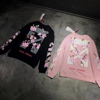 Wholesale Camp Hoodie - Off White Global Warming Fahion Women Hoodie with Flower Arrow Jesus Causal Hip Hop Sweatshirts Brand Designer Clothing