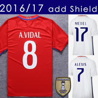 2017 Chile Soccer Jersey 2016 17 Alexis Vidal Home Red Away White Football  Shirt Jerseys With Shield Free Shipping ... df1d317fa