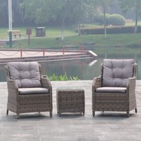 Wholesale Outdoor Rattan Dining Sets - Best Choice Products 3pc Patio Furniture Set Outdoor Wicker Rattan Garden Sofa Seat,Outdoor PE dining room rattan wicker table and chair