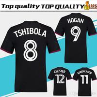 Wholesale Villas Jersey - 2018 Aston Villa away black Soccer Jersey 17 18 Aston Villa Soccer Shirt men #26 TERRY #9 HOGAN #11 AGBONLAHOR Football uniform Sales