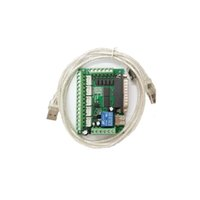 Wholesale Interface For Stepper Motor - 5 Axis CNC Interface Adapter Breakout Board For Stepper Motor Driver Mach3 + USB Cable, Mach3 CNC Controller