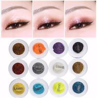 conjuntos de sombras de ojos minerales al por mayor-Fashion Glitter Eyeshadow Powder Mineral Spangle Professional Eye Shadow Makeup Cosmetics Set Diamond Shimmer Eye Shadow 60 colores mezclados