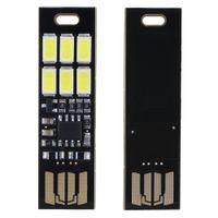 1w 5v led al por mayor-Sales Mini USB Power 6-LED luz nocturna 1W 5V Touch Dimmer Luz cálida (5 pcs)