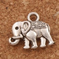 Wholesale Tibetan Silver Beads Elephant - Dots Elephant Spacer Charm Beads 280pcs lot 17x14.5 mm Tibetan Silver Pendants Alloy Jewelry DIY L1170