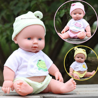 Wholesale Baby Reborn Girl - 2017 New Cute Reborn Baby Doll Soft Vinyl Silicone Lifelike Newborn Baby Music doll for Girl Gift free Epacet