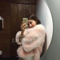 Wholesale Ladies Pink Wool Coats - Luxury Brand Fox Fur Coat Women's Fur Short Jacket Genuine Fox Fur New Fashion Ladies Female Winter Warm Fur Coats