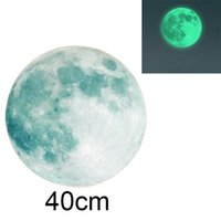 "Wholesale Glow Dark Children - 40CM 15.75"" Moonlight Sticker Glow In The Dark Moon Wall Sticker Decal For Children Room Living Room"